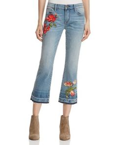 AQUA Rose Straight Crop Jeans | Bloomingdale's