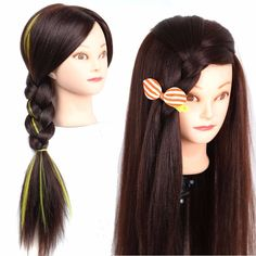 Makeup Practice Mannequin Head Segbeauty Makeup Cosmetology Training Head Doll for Eyelashes Extension Face Makeup Massage Practice Wig-Making with Mannequin Holder