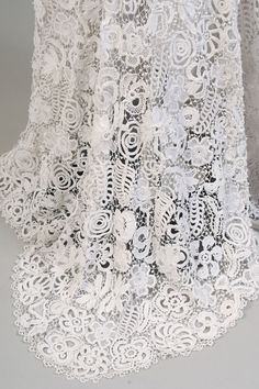 Irish Lace Two Piece Dress | From a collection of rare vintage evening dresses at https://www.1stdibs.com/fashion/clothing/evening-dresses/