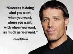 tony robbins quote on Success
