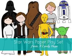Star Wars Paper Doll Play Set