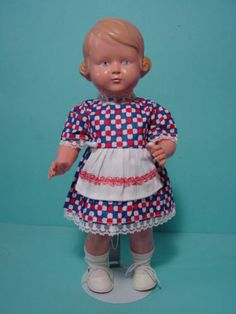 PK010-Altes-Dirndelkleidchen-fuer-eine-30-cm-Celluloid-Puppe