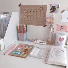 ♥ arranging room decor style for study motivation or the spirit of work and make yourself Study Room Decor, Study Rooms, Cute Room Decor, Study Space, Room Ideas Bedroom, Bedroom Decor, Ikea Bedroom, Bedroom Furniture, Study Areas