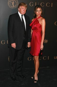 NEW YORK - FEBRUARY 06:  Donald Trump and Melania Trump arrive at the Madonna   Gucci Present A Night to Benefit Raising Malawi at the United Nations  on February 6, 2007 in New York City.   (Photo by Dimitrios Kambouris/WireImage)  via @AOL_Lifestyle Read more: http://www.aol.com/article/news/2016/11/11/white-house-releases-photo-of-michelle-obama-and-melania-trump-m/21603833/?a_dgi=aolshare_pinterest#fullscreen