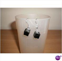 HANDMADE BLACK SQUARE EARRINGS Listing in the Earrings,Costume Jewellery,Jewellery & Watches Category on eBid United Kingdom