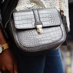 Major trend alert! Our Eden croc bag spotted at #LFW