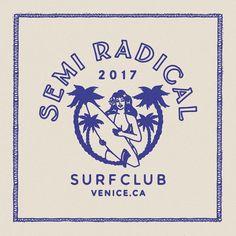 Vintage Embroidery Designs Design for Semi-Radical Surf Club, CA .