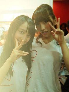 Ayana Shahab and Aki Takajo #JKT48