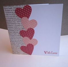 card making ideas Perfect card for that special someone that you love who loves to read handmade valentines cards Valentines Day Cards Handmade, Valentine Day Crafts, Homemade Valentine Cards, Handmade Anniversary Cards, Valentine Ideas, Valentine Verses, Wedding Anniversary Cards, Saint Valentine, Anniversary Ideas