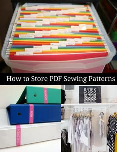 How to Store PDF Printable Sewing Patterns