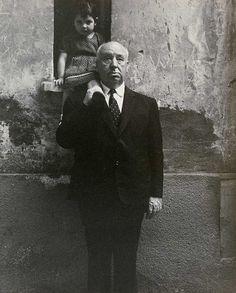 lottereinigerforever:Alfred Hitchcock byChiara Samugheo, 1970
