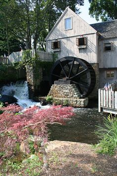 Jenney Grist Mill ~ Plymouth, Massachusetts - my great grandparents lived on Summer Street - just a few steps from this historic location