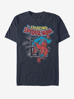 Marvel Spider-Gwen Unmasked Mens Blue T-Shirt