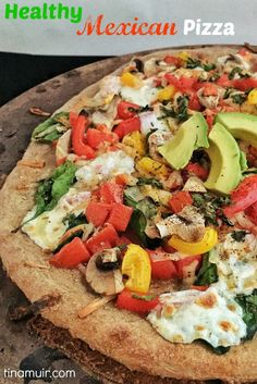 Elite runner Tina Muir shares a healthy, Mexican style pizza to keep you satisfied, while getting in lots of nutrition to fuel your training. #MeatlessMonday