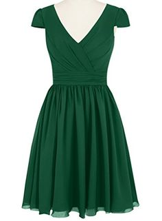 Dress U Cap Sleeve Bridesmaid Dresses Short Chiffon Prom ...