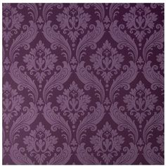 Vintage Flock: Purple Wallpaper by Kelly