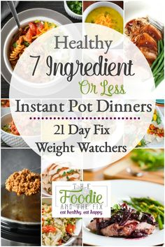 healthy Instant Pot dinner recipes are all simple and delicious! Each has 21 Day Fix counts and Weight Watchers Freestyle points.These healthy Instant Pot dinner recipes are all simple and delicious! Each has 21 Day Fix counts and Weight Watcher. 21 Day Fix, Tortellini, Recipe 21, Instant Pot Dinner Recipes, Instant Recipes, Enchiladas, Instant Pot Pressure Cooker, Healthy Dinner Recipes, Healthy Instapot Recipes