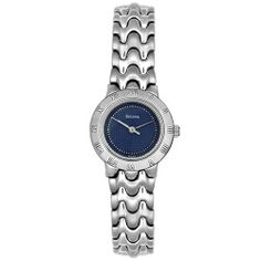 Bulova Women's 96L30 Watch Bulova. $89.00. Quality Japanese-Quartz movement. Stainless-steel case; Blue dial. Water-resistant to 99 feet (30 M). Mineral crystal. Case diameter: 25 mm