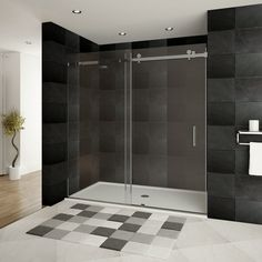"Found it at Wayfair - Ultra-B 76"" x 60"" Sliding Glass Shower Door"