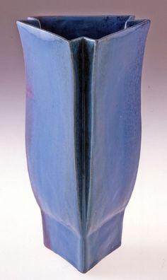 Wiener Werkstätte triangular vase by Josef Hoffmann.