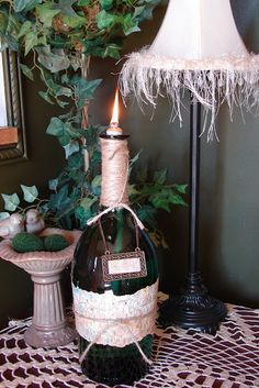 Wine oil lamp