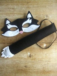 Great idea for Izzy's Kitty Softpaws costume. Mask looks fairly easy to make.