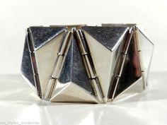 KUBISMUS Silber Armband ° Design wohl PAVEL JANAK für Artel ???. Czechoslovakia