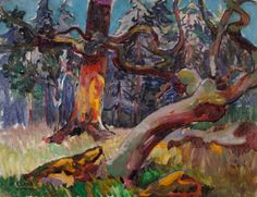 Emily Carr (Canada 1871-1945) Sunlight in the Forest (c. 1912) oil on canvas