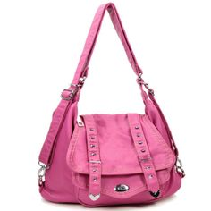 Handbags, Bling & More! Pink Stone Washed Purse : Fashion Purses