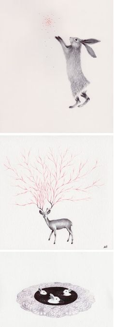Oh how I wish I could draw animals like Marielle Degioanni can. On the blog today! http://www.artisticmoods.com/marielle-degioanni/