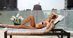 Izabel Goulart at home in her NYC apt. Izabel Goulart, Most Beautiful Models, Beautiful Women, Brazilian Models, Outdoor Furniture, Outdoor Decor, Nyc, Archive, Board