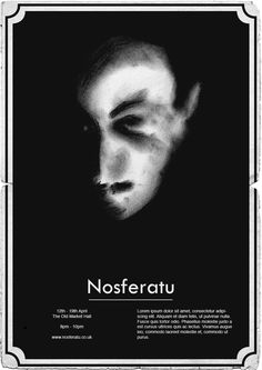 Nosferatu Poster 1920's Style. The decade in which the original film was made.