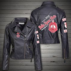 Life is good Delta Sigma Theta Apparel, Delta Girl, Celebrity Outfits, Faux Leather Jackets, Jackets For Women, Leather Products, Female, My Style, Real Leather