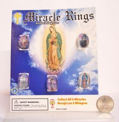 Catholic-Christian-Jesus-Mary-Guadalupe-1-Plastic-Clear-Miracle-Rings-Display