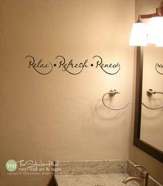 Relax Refresh Renew Bathroom Bathroom Decor by thestickerhut