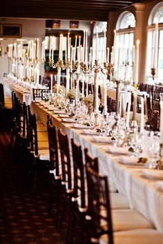 New Orleans Wedding - Crate & Barrel Ultimate Wedding Contest Winners - Each table had AT LEAST 100 candles. BEAUTIFUL!!
