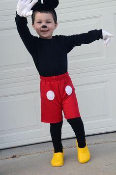 totally adorable homemade Mickey costume