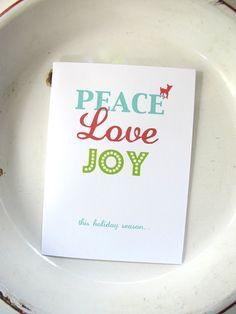 Holiday Christmas Cards Personalized set of 10