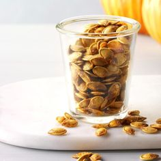 Savory Pumpkin Seeds, Perfect Pumpkin Seeds, Homemade Pumpkin Seeds, Pumpkin Seed Recipes, Toasted Pumpkin Seeds, Roast Pumpkin, Baked Pumpkin, Pesto Pizza, Pumpkin Breakfast Cookies