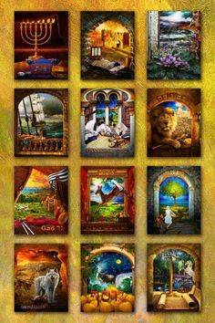 Pictures representing the 12 tribes.....