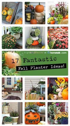 17 Fantastic Fall Planter Ideas | curated by 'Bright, Bold & Beautiful' blog!