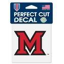 Miami University Redhawks - 4x4 Die Cut Decal
