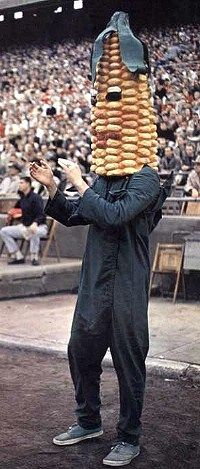 "Herbie Husker was preceded by several other Nebraska mascots, including the first mascot, ""Corn Cob"" (1940s-50s)."