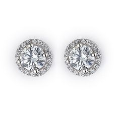 Must Have Studs Italian sterling silver stud earrings with the highest quality cubic zirconium in a micro pave setting. Available in 4 colors.