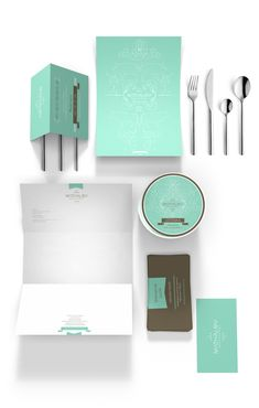 Restaurant Corporate Identity Design - I love the simplicity and color. I can see this as a brand for a chic and trendy west coast restaurant.