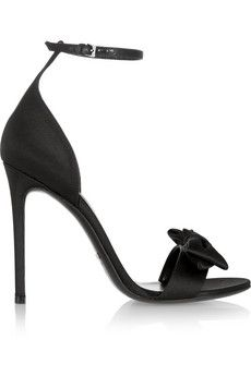 Gucci Bow-embellished satin sandals | NET-A-PORTER