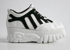 90's Striped Platform Sneakers // 8. $118.00, via Etsy.