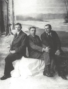 Frank Worsley, Ernest Shackleton, and Tom Crean After the Voyage of the Endurance (1917)
