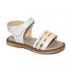 Sandalias de piel con tiras doradas Billowy