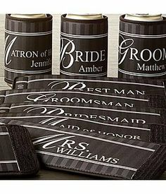 Personalized Bridesmaid Coozie - Wedding Gifts by Personal Creations, http://www.amazon.com/dp/B0056HOWW4/ref=cm_sw_r_pi_dp_9ZKVrb17M078B